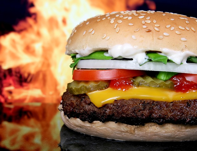 estres hamburguesa